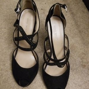 Cute black heels for a night out